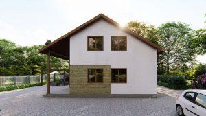 У чому привабливість проектів будинків з двосхилим дахом фото 108989