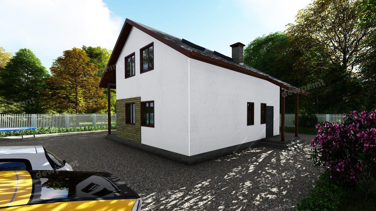 Проект домас мансардой ДП-12