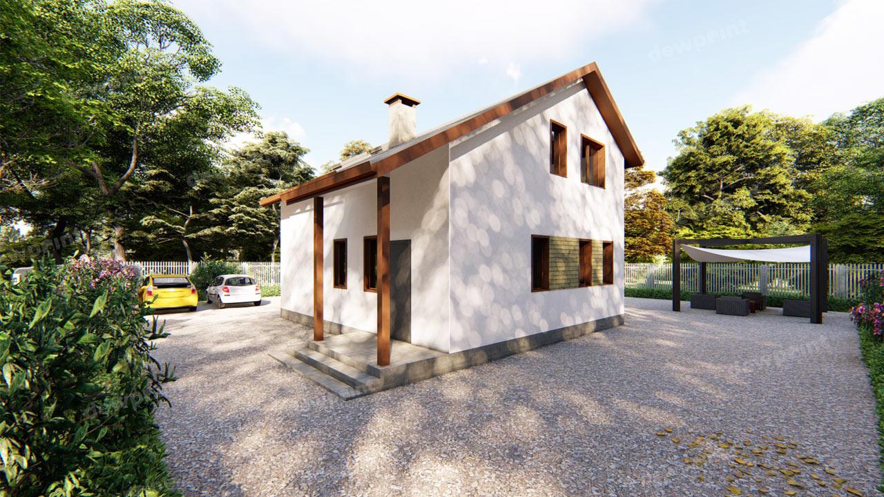 Проект дома с мансардой ДП-12