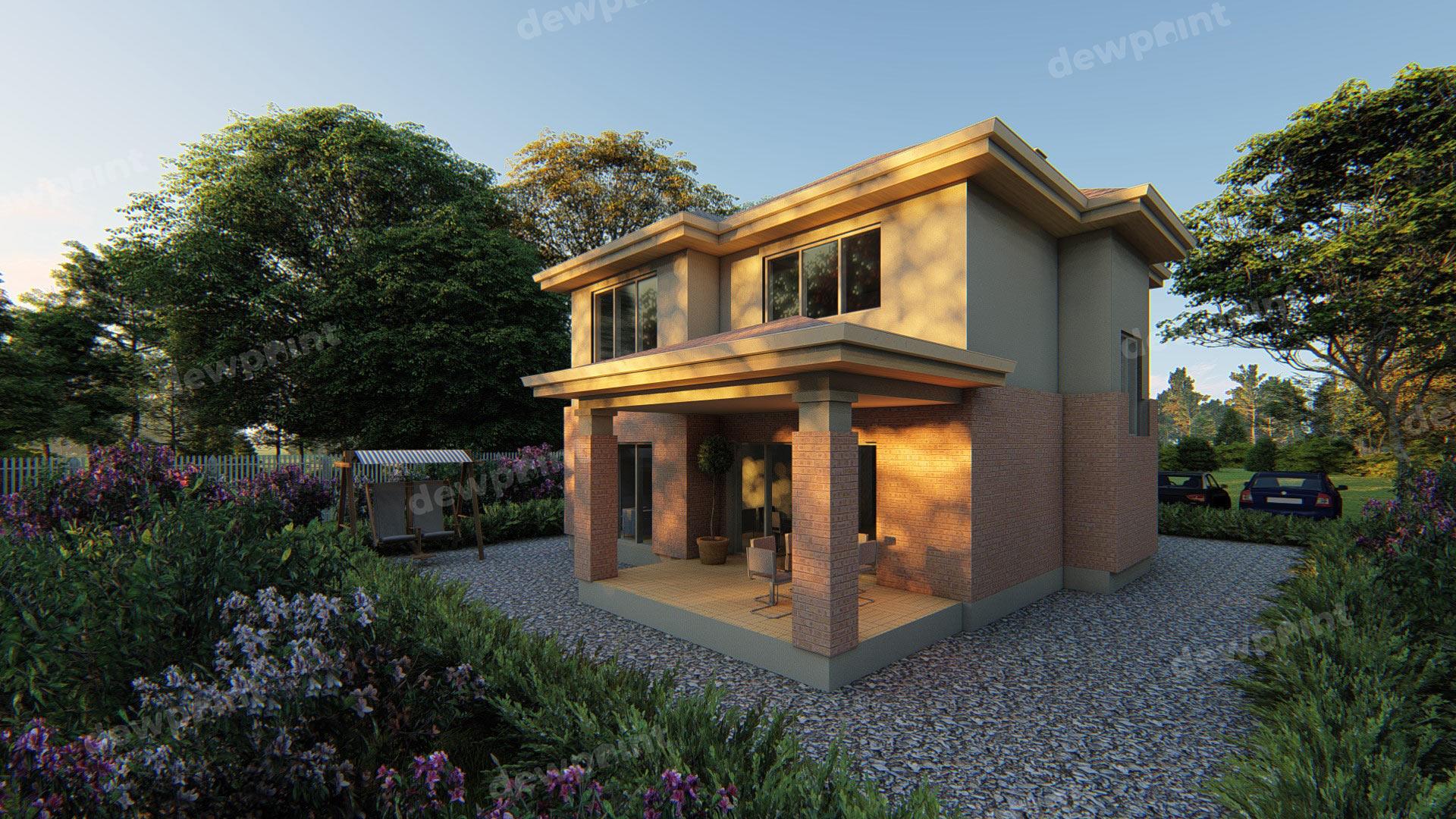Проект двухэтажного дома ДП-10