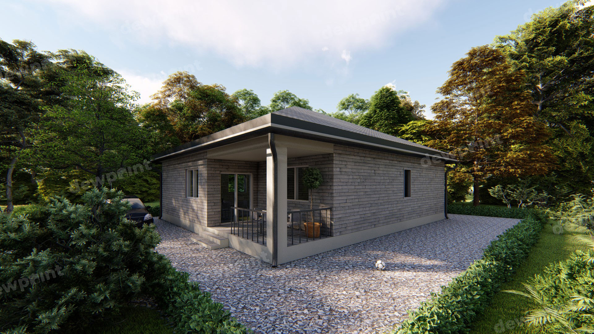 проект одноэтажного дома ДП-04