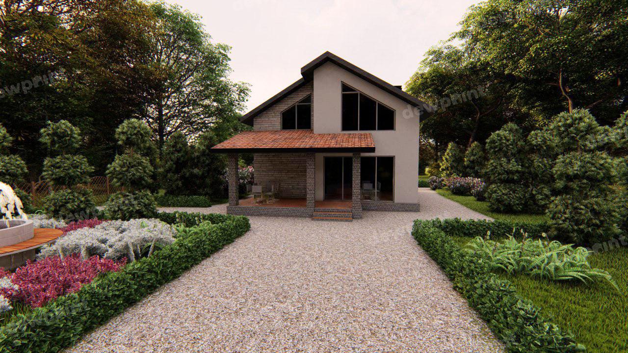 Проект двухэтажного дома ДП-09