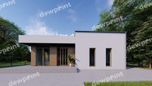 У чому привабливість проектів будинків з двосхилим дахом фото 108990