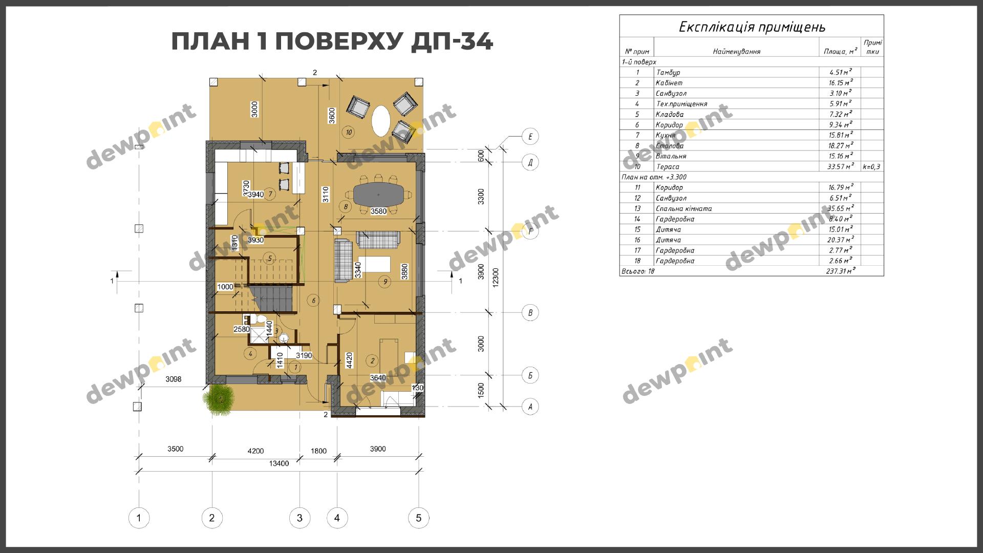 Проект дома ДП-34 фото 14385