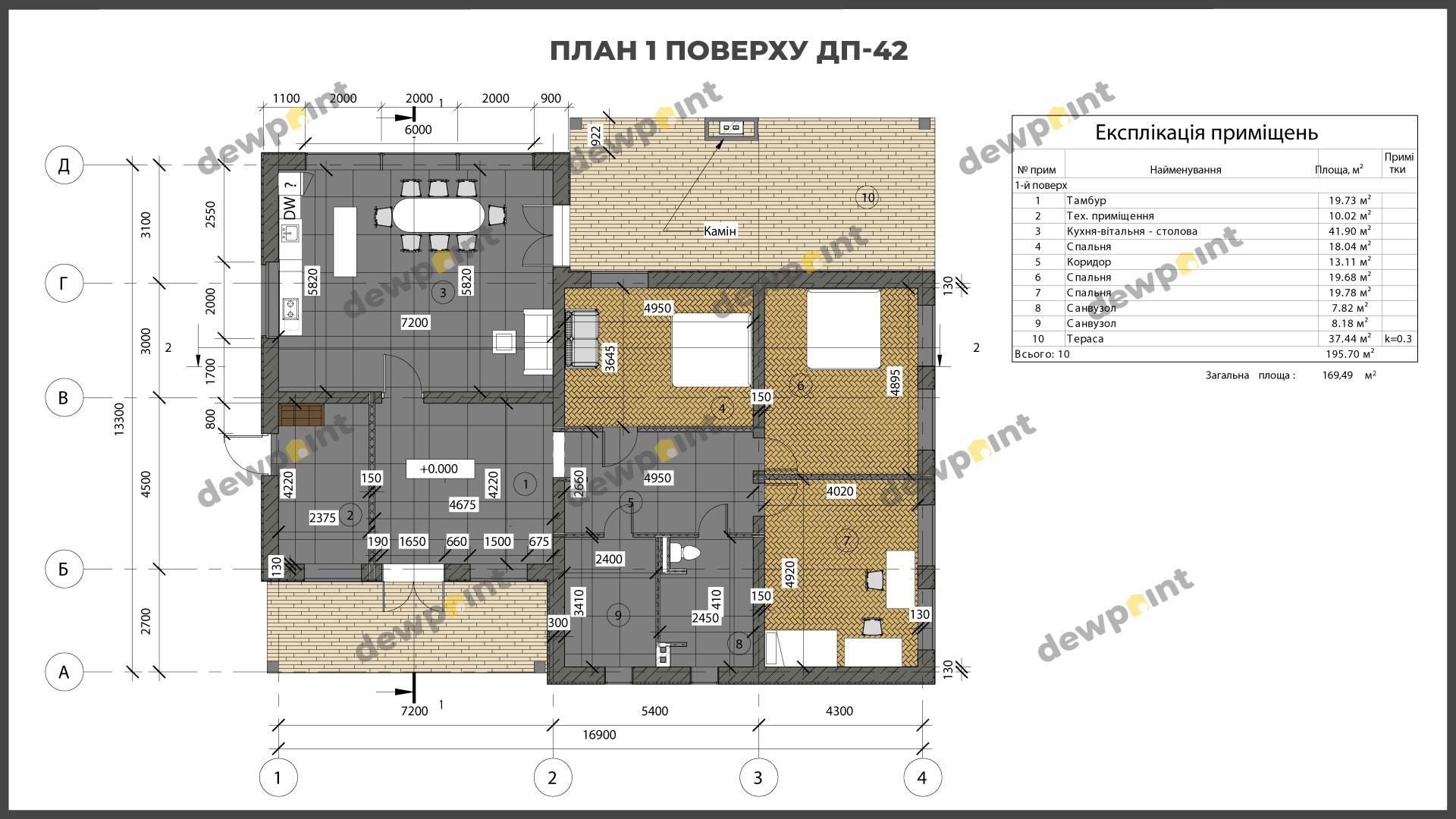 Проект дома ДП-42 фото 266595